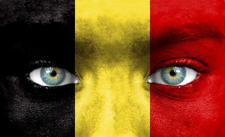 Face as Belgian flag