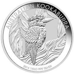 1 kg silver coin Kookaburra 2014 from the Perth Mint/Australia