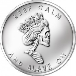 Rare collector's medal with cult status: Slave Queen silver medal 1 oz