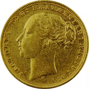1 Pound Sovereign Victoria Young Head 7,32g Gold