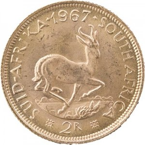 2 Rand South Africa 7,32g Gold
