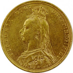 1 Pound Sovereign Victoria Jubilee Head 7,32g Gold