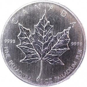 Canadian Maple Leaf 1oz Palladium (Standard Taxation)