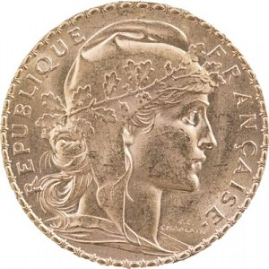 20 French Francs Marianne 5,81g Gold