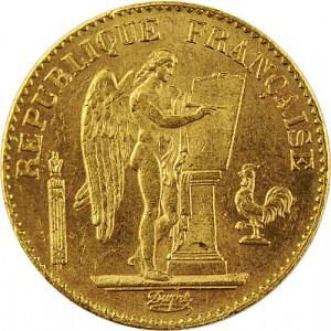 20 French Francs Angel 5,81g Gold