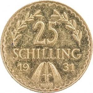 25 Austrian Schilling 5,29g Gold