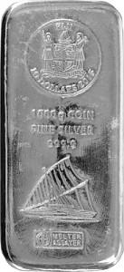 Fiji Argor Heraeus Coin Bar 1kg Silver