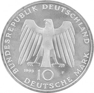 10 DM Commemorative Coins GDR 9,69g Silver (1970 - 1997)