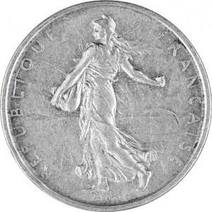 5 Franc France 'Säerin' 10,02g Silver (1959 - 1969)