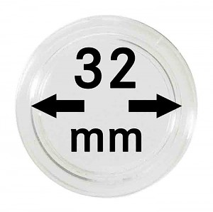 Coin Capsules 32mm, 1 Piece