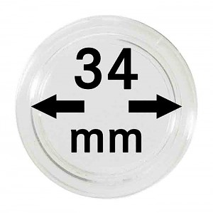 Coin Capsules 34mm, 1 Piece