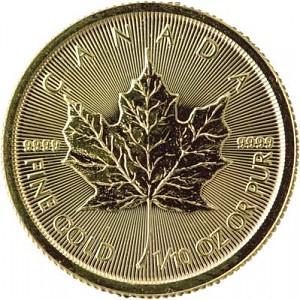 Canadian Maple Leaf 1/10oz Gold