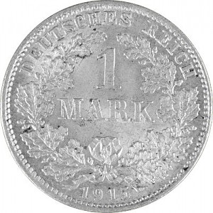1 Mark German Empire 5g Silver (1873 - 1915)