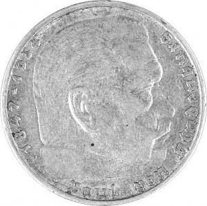 5 Reichsmark Hindenburg 12,5g Silver (1934 - 1939)