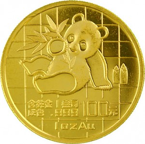 Chinese Panda 1oz Gold - 1989