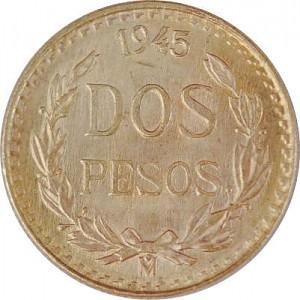 2 Mexican Pesos 1,5g Gold