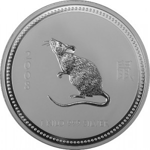 Lunar I Year of the Mouse 1kg Silver - 2008