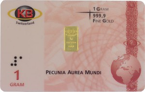 Gold Bar 1g - KB-Gold Switzerland