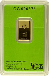 Gold Bar 5g - Green Gold VALCAMBI