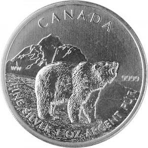 Canadian Wildlife Grizzly 1oz Silver - 2011 - B-Stock