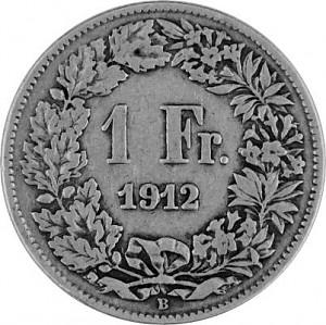 1 Swiss Franc 4,175g Silver (1875 - 1967)
