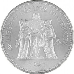 50 Franc France 27g Silver (1974 - 1980)