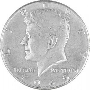 ½ US-Dollar Kennedy 4,6g Silver (1965 - 1970)