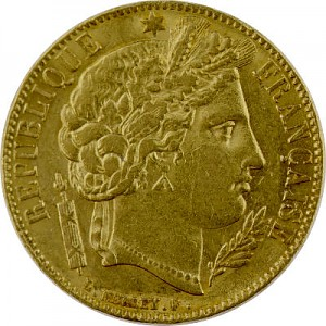20 French Francs Ceres 5,81g Gold