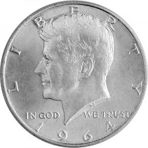 ½ US-Dollar Kennedy 11,25g Silver - 1964