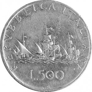 500 Lire Italy 9,185g Silver (1958 - 1979)