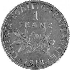 1 Franc France 4,17g Silver (1898 - 1920)
