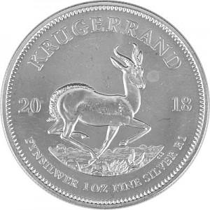 Krugerrand 1oz Silver - 2018 B-Stock