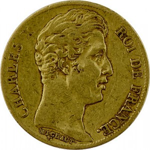 20 French Francs Charles X. 5,81g Gold