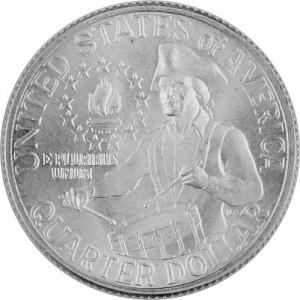 ¼ US-Dollar Washington Drummer 2,3g Silver - 1976