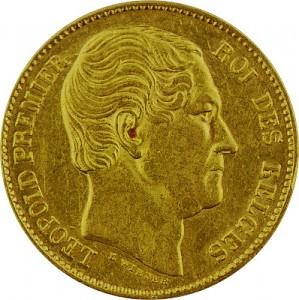 20 Belgian Francs Leopold I 5,81g Gold