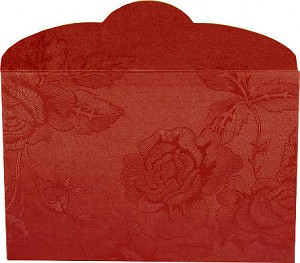 Gift envelope 'Red' for bars - roses motif