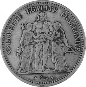 5 Franc France 22,5g Silver (1848 - 1879)