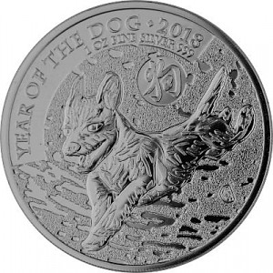 Lunar UK Year of the Dog 1oz Silver - 2018