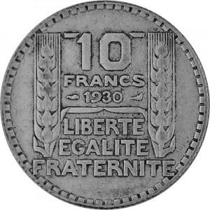 10 Franc France 6,8g Silver (1929 - 1939)