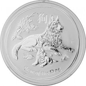 Lunar II Year of the Dog 1oz Silver - 2018