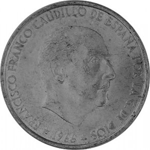100 PTS Spain 15.2 g silver - 1966