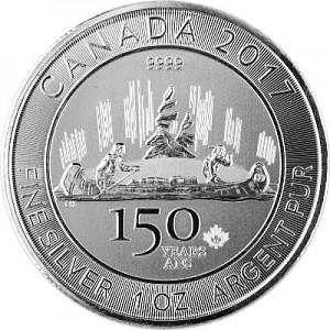 Canada 150 Years Voyageur 1oz Silver - 2017
