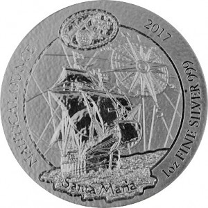 Rwanda Nautical Series - Santa Maria 1oz Silver - 2017