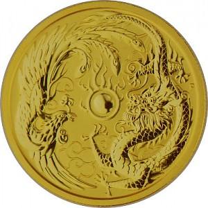 Australia Dragon and Phoenix 1oz Gold - 2018
