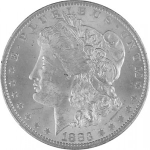 1 US Morgan Dollar 24,05g Silver - 1878 - 1904, 1924