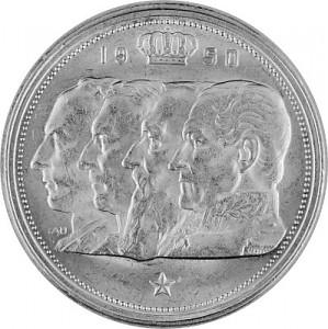 100 Belgian Francs 15,03g Silver 1948 - 1954