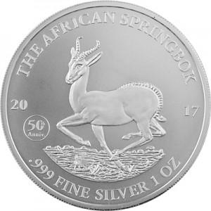 Africa Gabon Springbok 1oz Silver - 2017 B-Stock