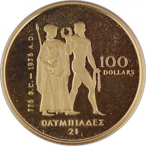 100 Dollar Kanada Olympic 1/2oz Gold Proof Coin - without box