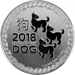 Niue Year of the Dog 1oz Silver - 2018