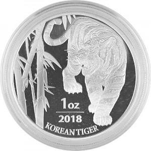 Tiger South Korea 1oz silver - 2018